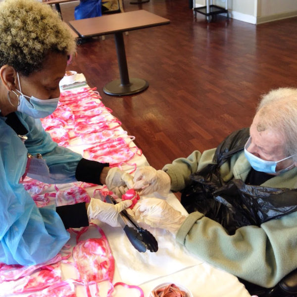 Residents Had Fun Making Tie-Dye Face Masks for the Home - The Selfhelp Home